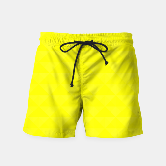Thumbnail image of Bright juicy lemon color print Swim Shorts, Live Heroes