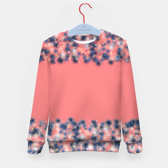 Miniature de image de Coral color and blurred dots Kid's Sweater, Live Heroes