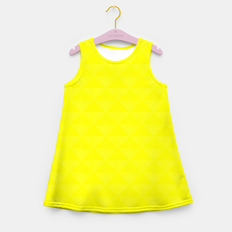Thumbnail image of Bright juicy lemon color print Girl's Summer Dress, Live Heroes