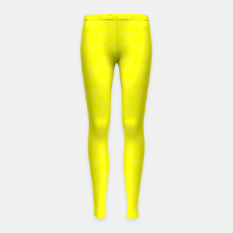 Thumbnail image of Bright juicy lemon color print Girl's Leggings, Live Heroes