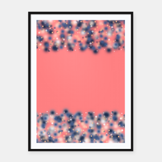 Miniature de image de Coral color and blurred dots Framed poster, Live Heroes