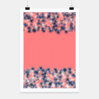 Miniaturka Coral color and blurred dots Poster, Live Heroes