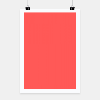 Miniaturka Bright coral color print Poster, Live Heroes