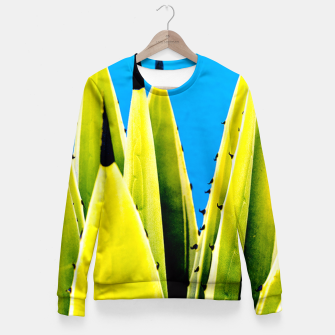 Miniature de image de Envy Cactus Fitted Waist Sweater, Live Heroes
