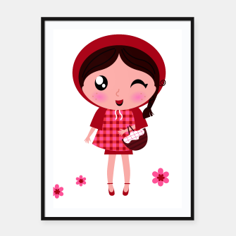 Miniature de image de FRAMED POSTER WITH RED RIDING HOOD, Live Heroes