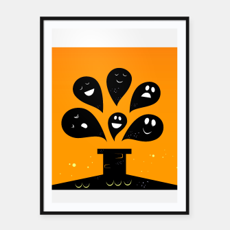 Miniature de image de Amazing framed poster with cute Black Ghosts, Live Heroes