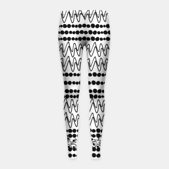 Thumbnail image of Lines  Girl's Leggings, Live Heroes