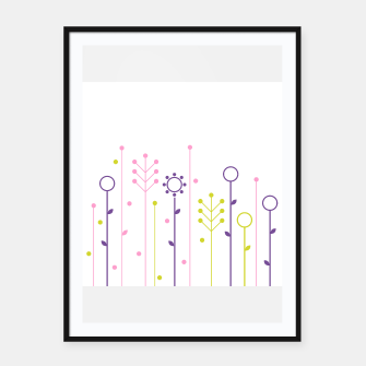 Miniature de image de Framed poster with Illustrated Grass, Live Heroes