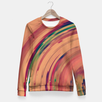 Miniature de image de Sunset Colour Swirl Fitted Waist Sweater, Live Heroes