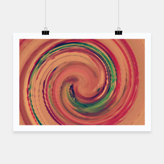 Thumbnail image of Sunset Colour Swirl Poster, Live Heroes