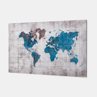 Thumbnail image of world map blue Canvas, Live Heroes