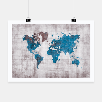 Thumbnail image of world map blue Plakat, Live Heroes