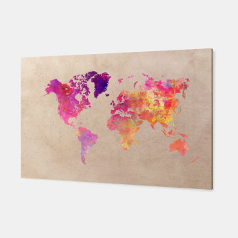 Thumbnail image of world map colors Canvas, Live Heroes