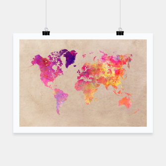 Thumbnail image of world map colors Plakat, Live Heroes