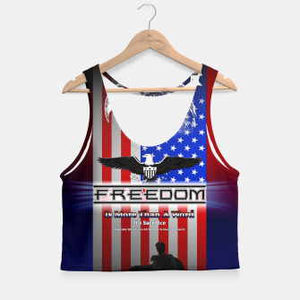 Thumbnail image of Freedom Is More Than A Word EW Crop Top, Live Heroes