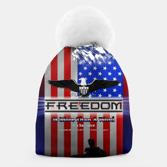 Thumbnail image of Freedom Is More Than A Word EW Beanie, Live Heroes