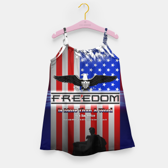 Thumbnail image of Freedom Is More Than A Word EW Girl's Dress, Live Heroes