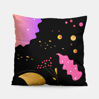 Thumbnail image of Handdrawn Illustrated Fashion Artistic PILLOW Black, Live Heroes