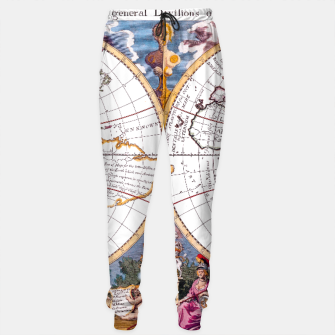 Thumbnail image of A New Map Of The Terraqueous Globe Sweatpants, Live Heroes