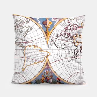 Thumbnail image of A New Map Of The Terraqueous Globe Pillow, Live Heroes
