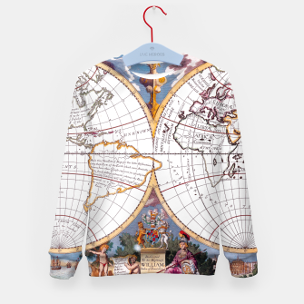 A New Map Of The Terraqueous Globe Kid's Sweater thumbnail image