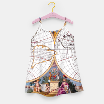 Thumbnail image of A New Map Of The Terraqueous Globe Girl's Dress, Live Heroes