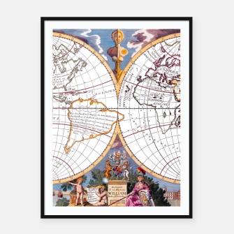 Thumbnail image of A New Map Of The Terraqueous Globe Framed poster, Live Heroes