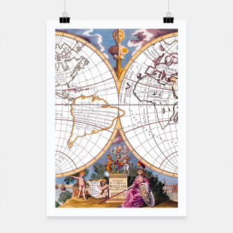 Thumbnail image of A New Map Of The Terraqueous Globe Poster, Live Heroes