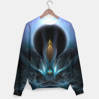 Thumbnail image of Penapia Mystical Ethereal Moon Glow Fractal Art Composition Sweater, Live Heroes