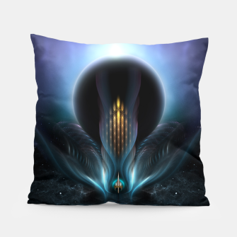 Thumbnail image of Penapia Mystical Ethereal Moon Glow Fractal Art Composition Pillow, Live Heroes