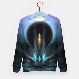 Thumbnail image of Penapia Mystical Ethereal Moon Glow Fractal Art Composition Kid's Sweater, Live Heroes