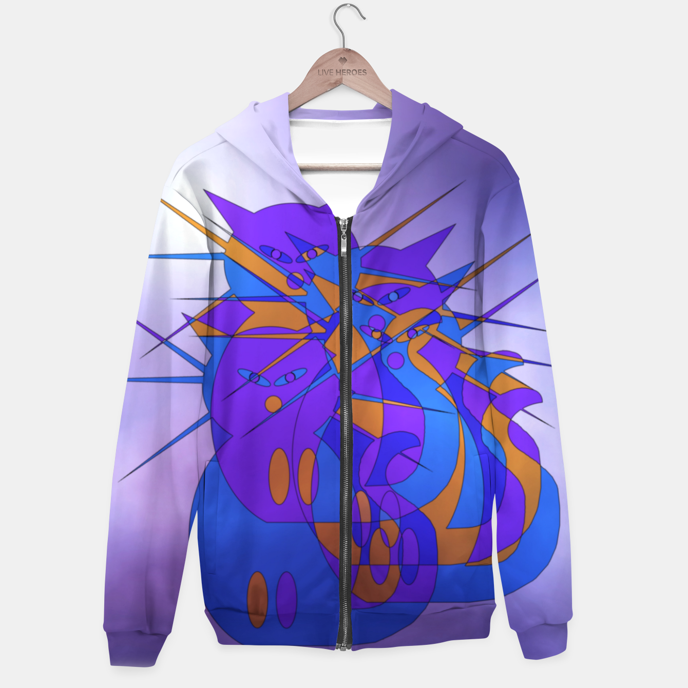 Image of cats trio Hoodie - Live Heroes