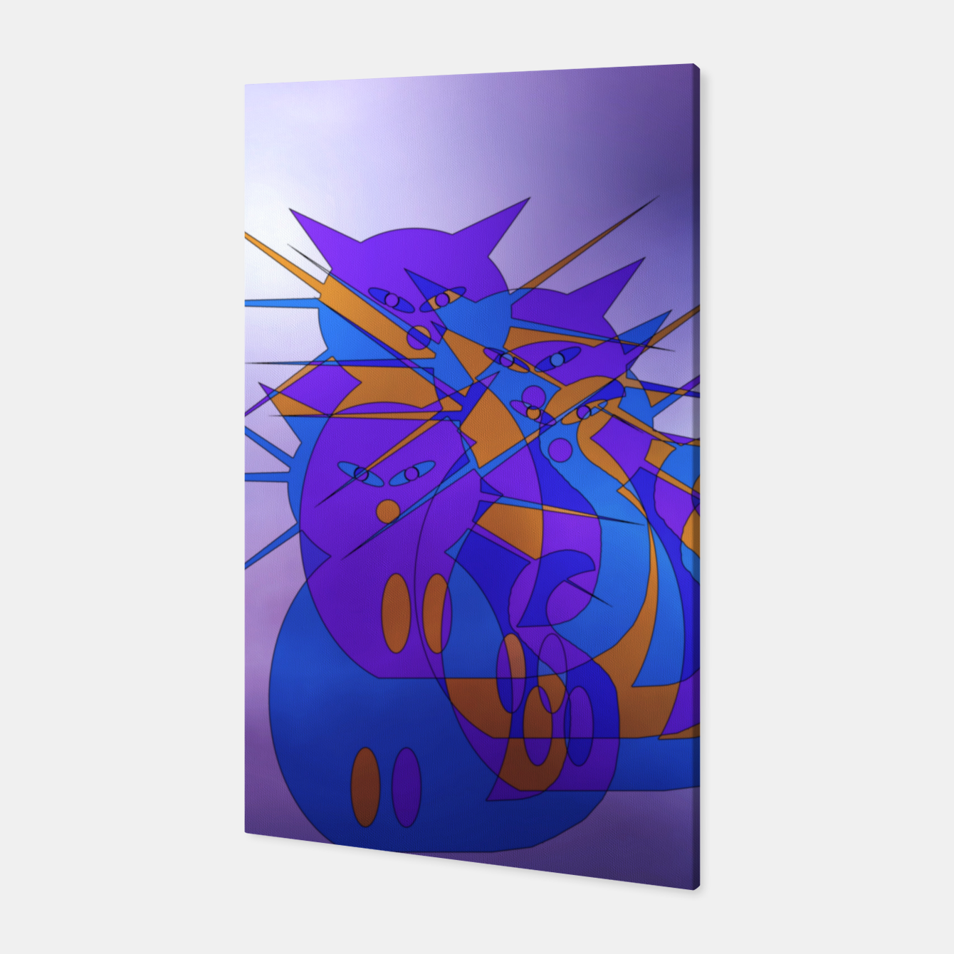 Image of cats trio Canvas - Live Heroes