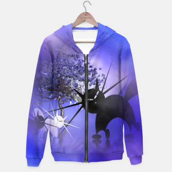 Thumbnail image of mooncat's foggy night Hoodie, Live Heroes