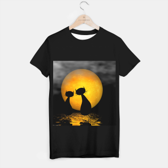 mooncat's evening T-shirt regular thumbnail image
