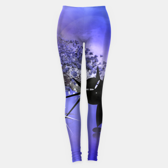 Thumbnail image of mooncat's foggy night Leggings, Live Heroes