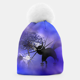 Thumbnail image of mooncat's foggy night Beanie, Live Heroes
