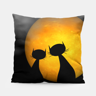 mooncat's evening Pillow thumbnail image