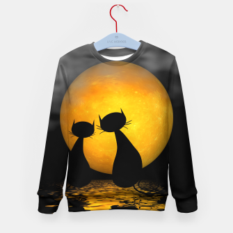 mooncat's evening Kid's Sweater thumbnail image