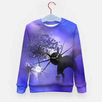 Thumbnail image of mooncat's foggy night Kid's Sweater, Live Heroes