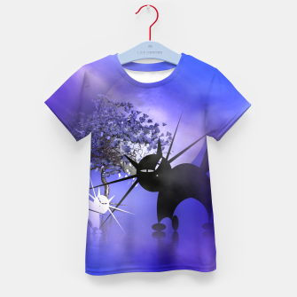 Thumbnail image of mooncat's foggy night Kid's T-shirt, Live Heroes