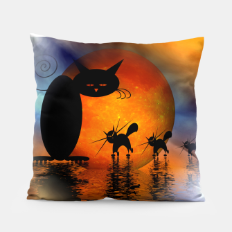 Thumbnail image of mooncat's catwalk Pillow, Live Heroes