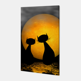 mooncat's evening Canvas thumbnail image