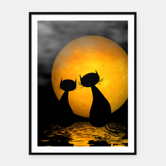 mooncat's evening Framed poster thumbnail image