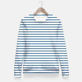 Thumbnail image of Blue Summer lines Fitted Waist Sweater, Live Heroes