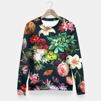 Thumbnail image of Flowery pattern Fitted Waist Sweater, Live Heroes