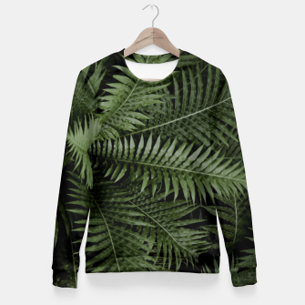 Thumbnail image of Tropical Leaves 02 Fitted Waist Sweater, Live Heroes