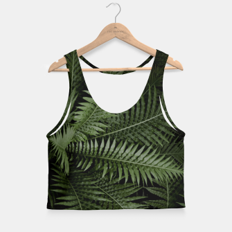 Thumbnail image of Tropical Leaves 02 Crop Top, Live Heroes