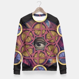 Thumbnail image of METATRON CUBE Fitted Waist Sweater, Live Heroes