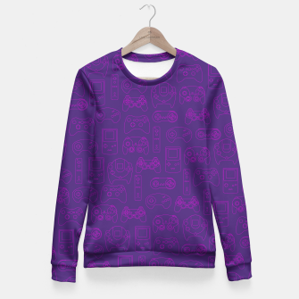 Thumbnail image of Gamers' Controllers - Plum Purples Fitted Waist Sweater, Live Heroes